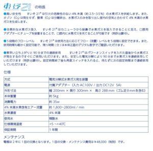 水素発生器 詳細